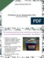 Hot Topic Presentation 2 Portfolio Assessment