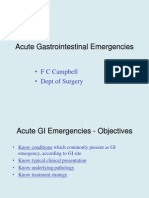 Acute Gastrointestinal Emergencies