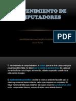 Mantenimientodecomputadores Universidad