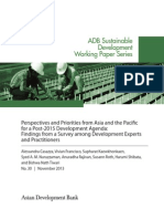 Perspectives and Priorities from Asia and the Pacific for a Post-2015 Development Agenda