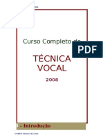 Curso de Canto Tecnica Vocal
