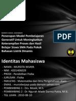 Penerapan Model Pembelajaran g 4201406029