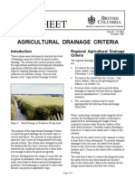 Agricultural Drainage Criteria