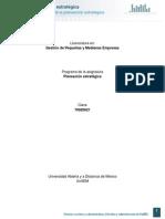 Unidad 1. Generalidades de La Planeacion Estrategica