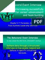 Behav Event Interview Fernandez