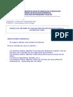Modelo de evaluación psicopedagogica. Estudio caso