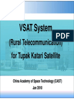 VSAT System (Rural Telecommunication) for Tupak Katari Satellite