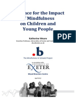 Impact of Mindfulness Katherine Weare