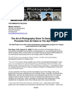 The Art of Photography Show To Donate