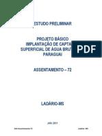 Projeto Básico Captação no Rio Paraguai_ASSENTAMENTO 72- Ladário-MS