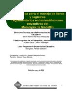 Manejo de Libros y Registros Reglamentarios de Educacion