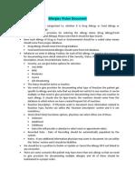 Vision Document for Allergies (EMR)