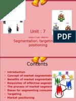 Unit 7 Segmentation Targeting and Positioning
