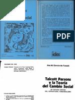 Ana Ma. García Fandelli - Talcott Parsons la teoría del cambio social