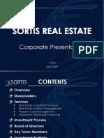 SORTIS RE Presentation 20090403 En