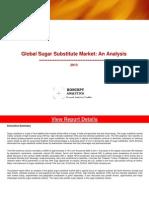 Global Sugar Substitute Market