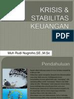 Krisis & Stabilitas Keuangan Oleh Muh Rudi Nugroho, S.E, M. Sc