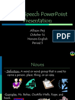 Part of Speech PowerPoint Presentation.ppt Allison Peji