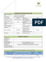 Candidate Information Form_Oil & Gas