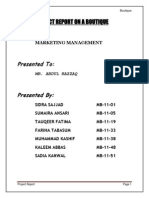 Marketing Project Report