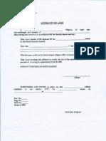 SSS Template for Affidavit of Loss