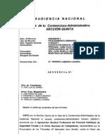 La Audiencia Nacional anula la inclusión del DNI en la TIP.Sentencia