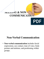 Selling & Non-Verbal Communication
