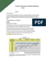 PARAMETRO DE DISEÑO PARA LA CONFECCIÓN DEL LAS SECCIONES TRANSVERSALES  TÍPICAS