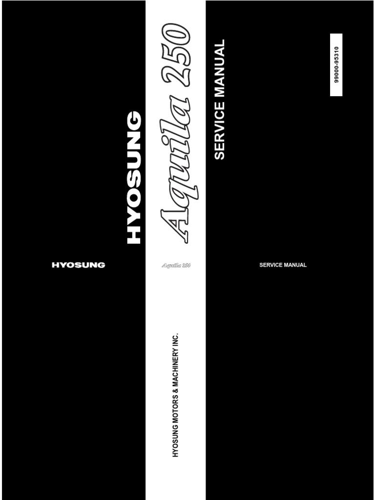 manual mecanico hyosung
