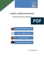 Documento de análisis y diseño del sistema