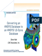 ANSYS to Dyna Summary