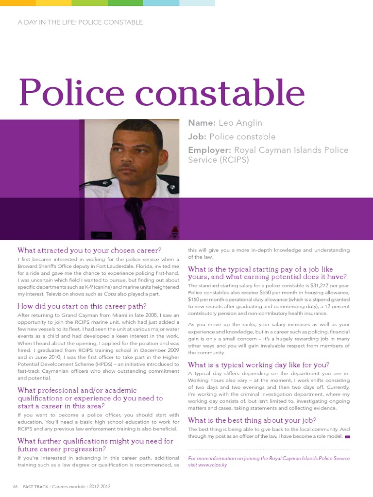 Day in the Life - Leo Anglin - Police Constable | Cayman