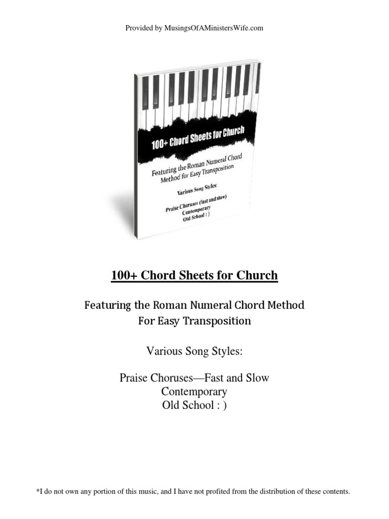 100 chord sheets for church chord music music theory hexwebz Image collections