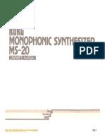 Korg MS-20 manual.