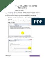 Langkah-langkah Instal Mikrotik