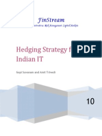 Hedging for Indian IT Firm