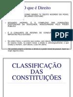 Classificação das Const. + Eficácias das Normas