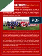Colga FC Newsletter Winter 2013