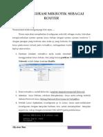 Konsfigurasi Mikrotik Sebagai Router