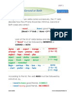 infinitive gerund or both- 2bac - unit 1 - grammar