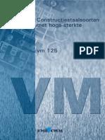 VM125 - Constructiestaalsoorten Met Hoge Sterkte