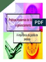 PRATICAS MODERNAS DE LIDERANÇA E GERENCIAMENTO