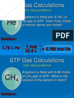 STP Gas Calculations Practice