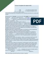 Model de pact de opţiune
