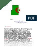 Algérie Données historiques et conséquences linguistiques