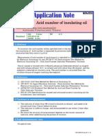 Acid Test in Oil