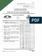 Spm Past Year 2006 Matematik Tambahan Paper 1