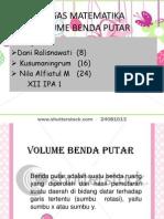 08. Volume Benda Putar, Kurva Dan Sumbu X Y