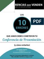 Sandra Llinares - Conferencias que Venden. Los 10 errores que jamas debes cometer en tu conferencia de presentacion.pdf