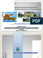 Prospek Pembangunan Rusunawa dalam Mengurangi Backlog Perumahan